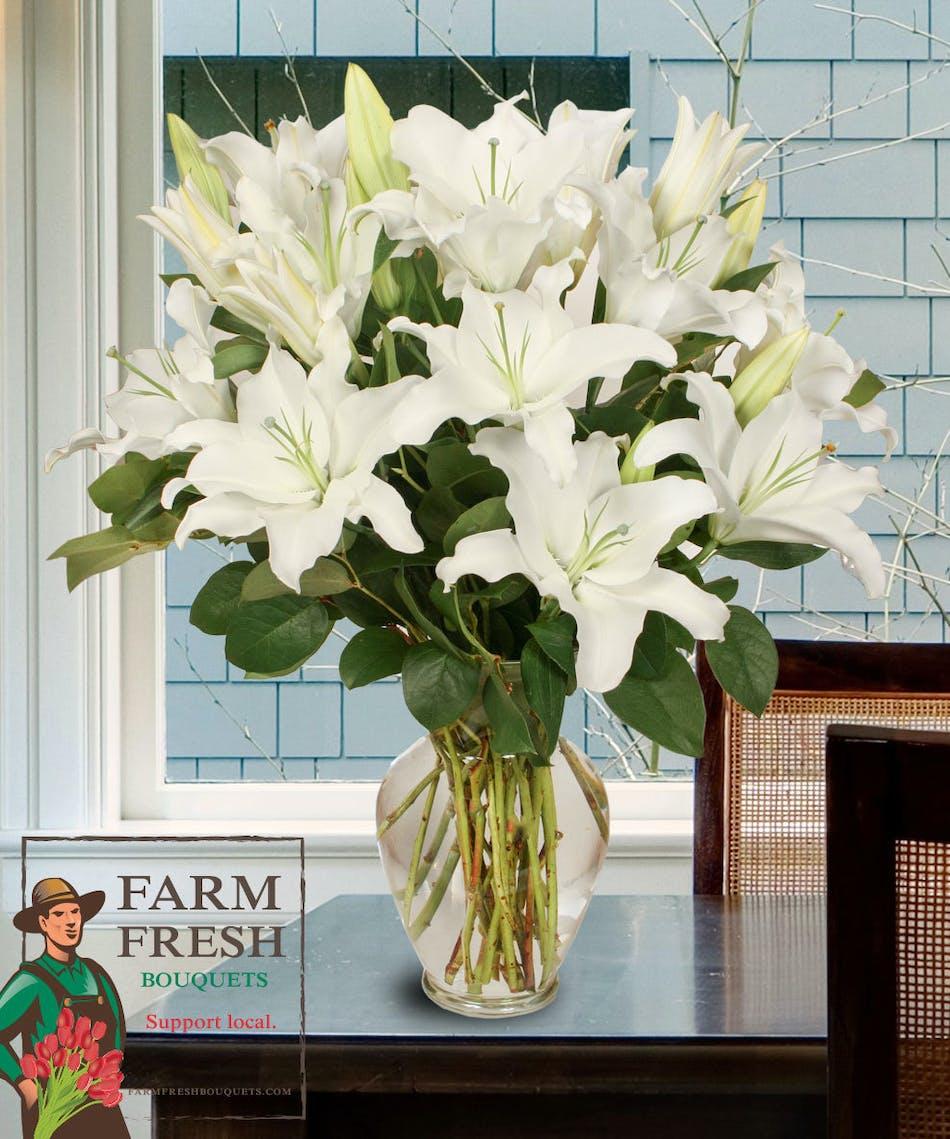 Stadium Flowers - Farm Fresh Bouquet - Skagit Valley Lily Bouquet