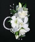 Dendrobium Orchid + Rose Wristlet