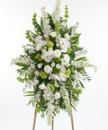 Premium Green and White Easel Display