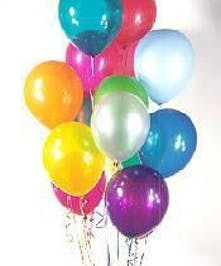 Colorful assortment of latex balloons sure to brighten up any setting! Colors may vary.