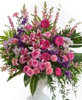 Delicate Pink and Lavender - Fan Shaped Design