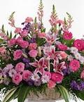 Delicate Pink and Lavender - Floor Basket