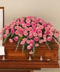 Pink Rose and Carnation Casket Spray