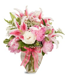 Fresh, fragrant and perfectly pink peonies from Stadium Flowers!