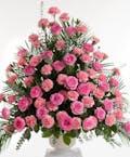 Pink Rose and Carnation - Fan Shape design