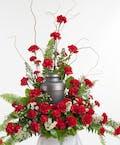 Red Carnation Memorial Display