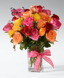 Rainbow wishes for your loved one! all the best and brightest color available in this mixed dozen