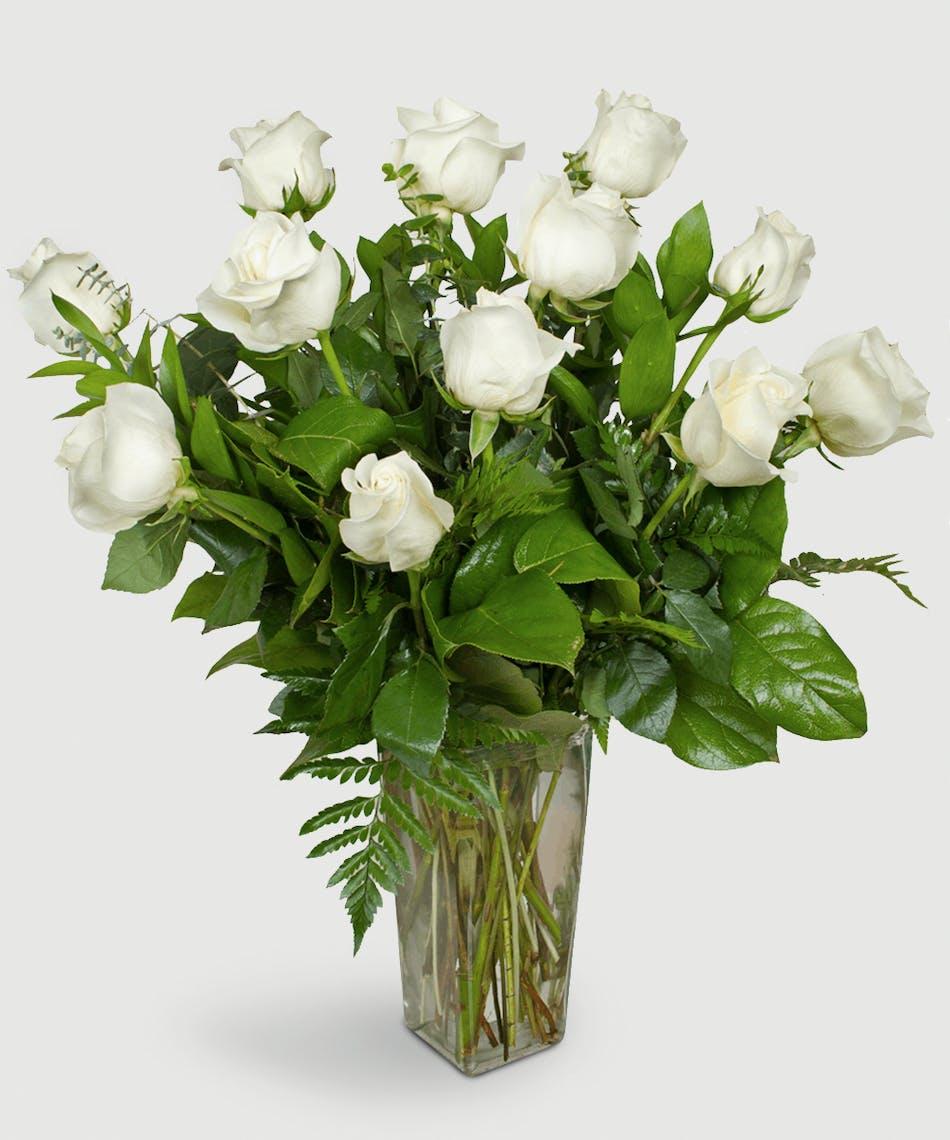 Buy roses everett wa rose delivery stadium flowers one dozen premium long stemmed white roses mightylinksfo