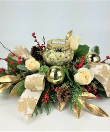 Show them how much you care with this warm gift. Yellow, orange and rustic fall accents designed with lily, roses and mums.