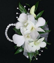 Dendrobium Orchid Wristlet