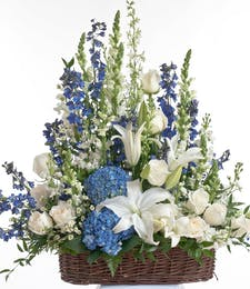 Blue and White -  Floor basket