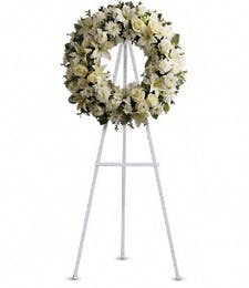 White Wreath Display