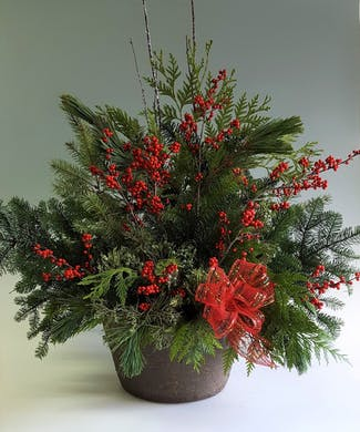 Holiday Welcome Planter