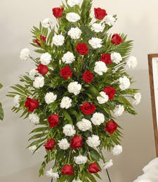 Roses and Carnations - Easel