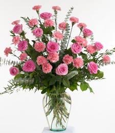 Pink Rose and Carnation - Vase Design