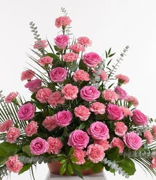 Pink Rose and Carnation - Floor Basket