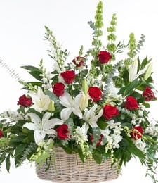 Classic Red and White - Floor Basket