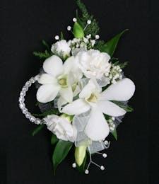 Dendrobium Orchid + Carnation Wristlet